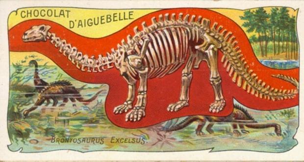 1800년대 말에 연구자들이 상상했던 브론토사우루스. Photograph: Picasa