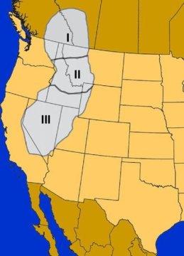 브리티시 콜럼비아에서 네바다까지 이어지는 록키 산맥은 5600만년 전에서 2300만년 전에 이르는 기간 동안 세 단계에 걸쳐 솟아올랐다. 융기하는 산맥 때문에 내부 지역은 건조해졌고 포유류들은 3400만년 전에 있었던 큰 기후변화를 미리 준비할 수 있었다고 한다. 유럽의 포유류들은 이에 대한 대비를 하지 못했다. Credit: Courtesy of Eronen et. al.