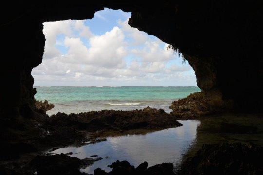 물에 잠긴 동굴에서 발견된 화석들로 인해 인간의 활동이 생물다양성에 끼치는 영향이 밝혀졌다. 미국 국립과학재단의 연구비 지원으로 플로리다 대학의 연구자들이 사진에 보이는 바하마 제도의 크루키드섬의 동굴을 비롯해 여러 동굴들에서 발굴을 진행할 수 있게 되었다. Credit: File photo