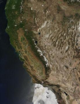미국 캘리포니아 북부. Credit: Image courtesy NASA