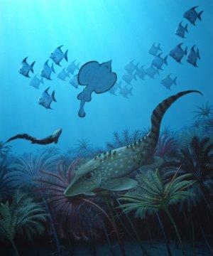 한겐버그 대량멸종 이후 큰 물고기들은 대부분 멸종하고 작은 물고기들이 바다를 지배하게 되었다. Credit: Bob Nicholls