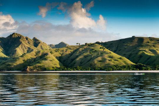 인도네시아 코모도 국립공원 내 한 섬의 해변 풍경. 연구진들 중 한 명에 의하면 호모 플로레시엔시스는 우리 종이 플로레스 섬에 도착하자 곧 사라진 것으로 보이며, 이들을 멸종으로 이끈 것이 우리일 수도 있다고 한다. Credit: © jiduha / Fotolia